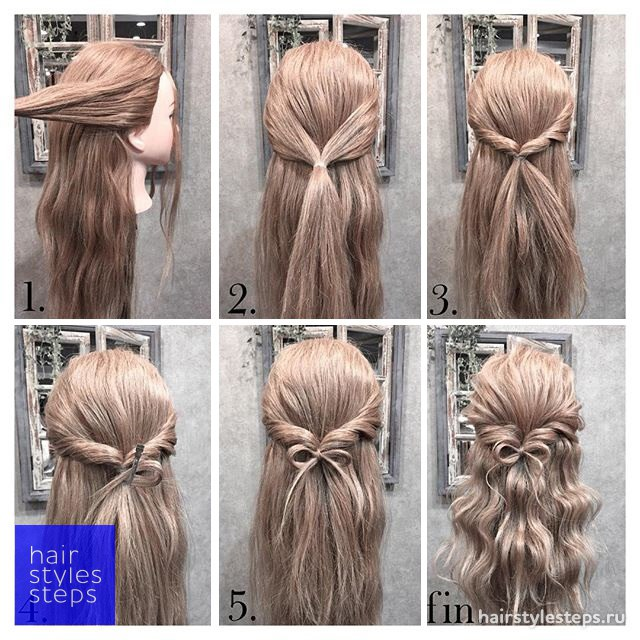 Как из банта сделать косу фото 33