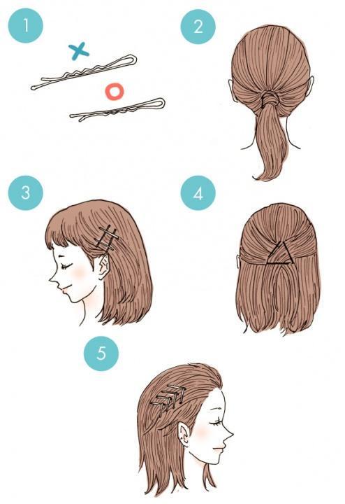 Украшаем волосы невидимками