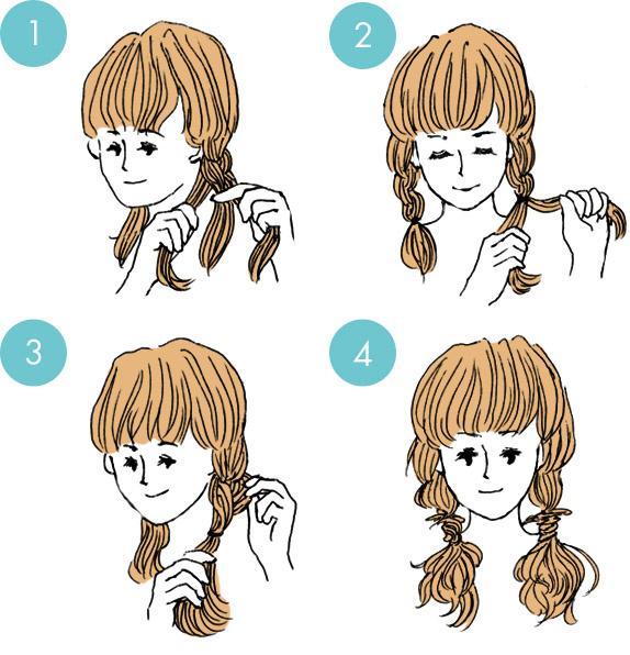 Легкая укладка на основе двух кос