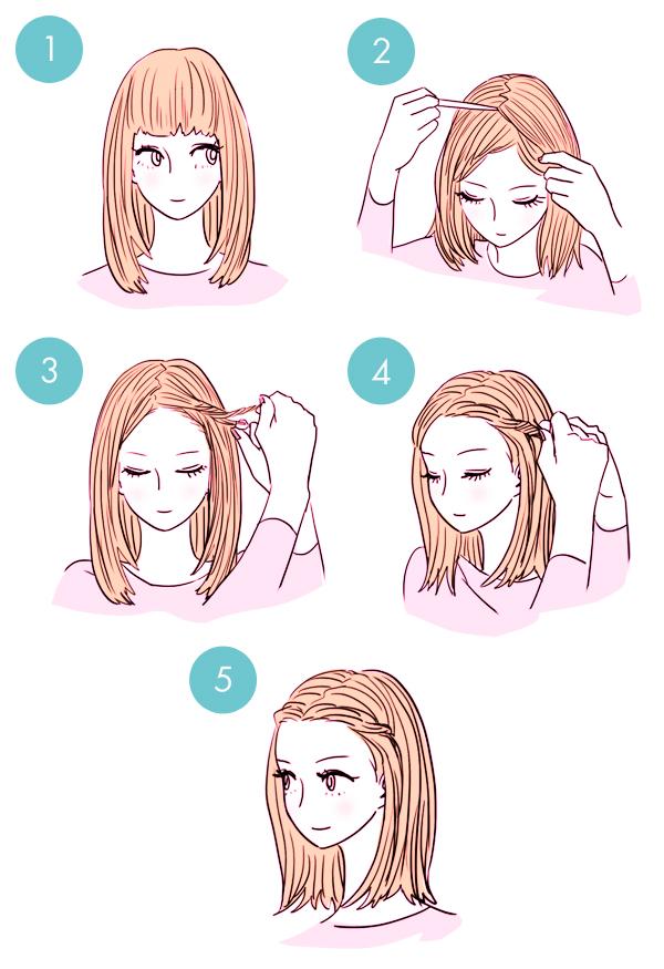 Открываем лицо с помощью жгутов или кос