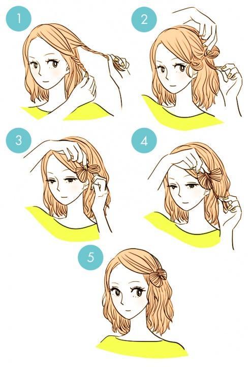 Украшаем прическу бабочкой или цветком из волос