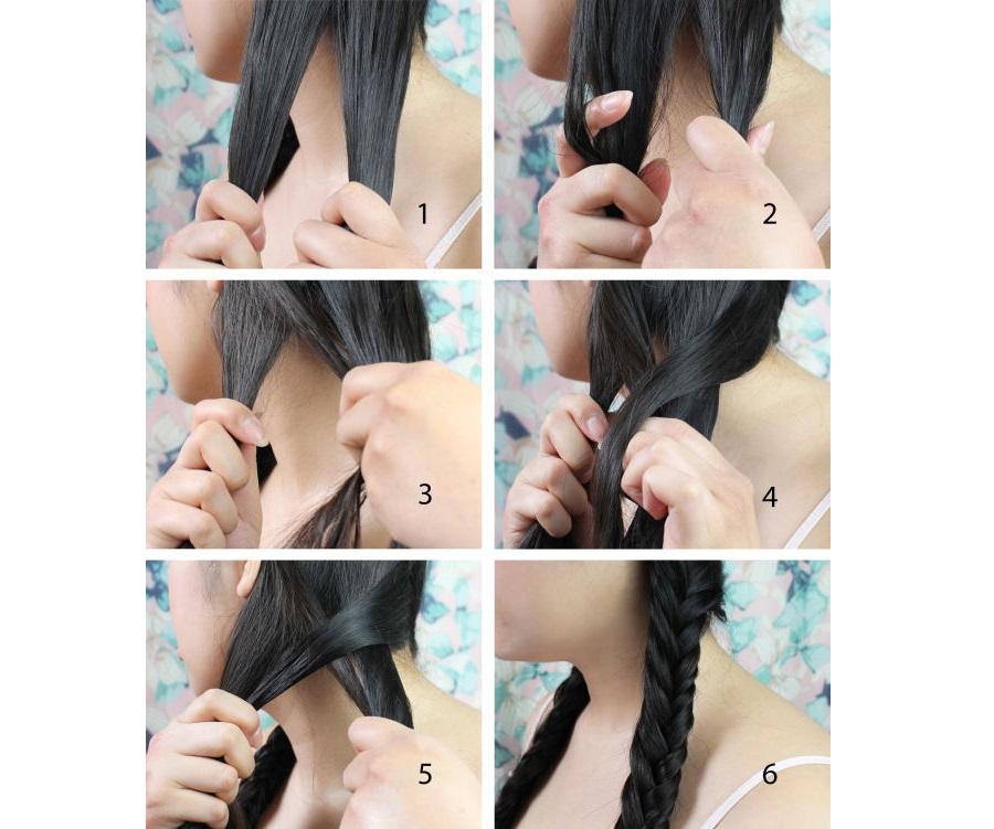 Как заплести косу рыбий хвост