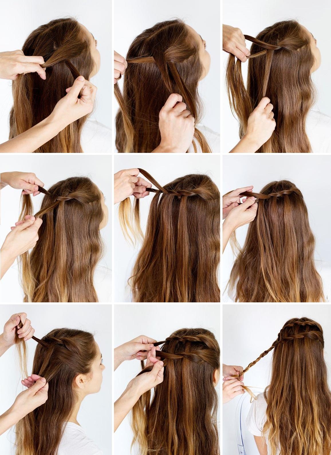 Причёска водопад фото на длинные волосы