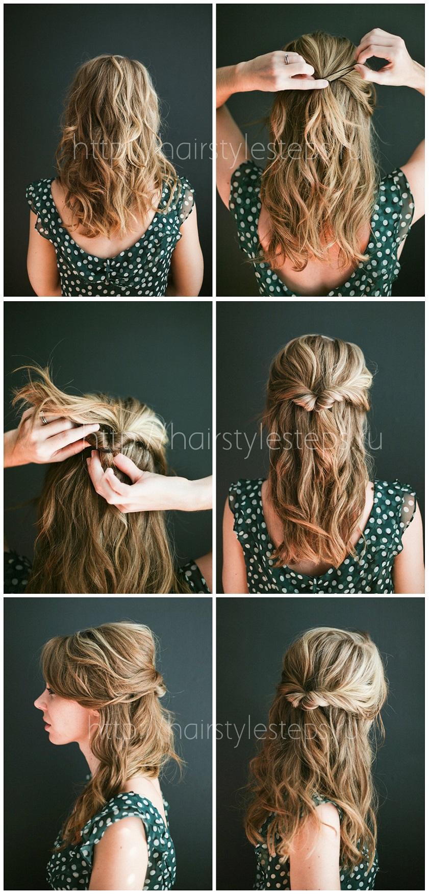 Как красиво убрать волосы прически фото
