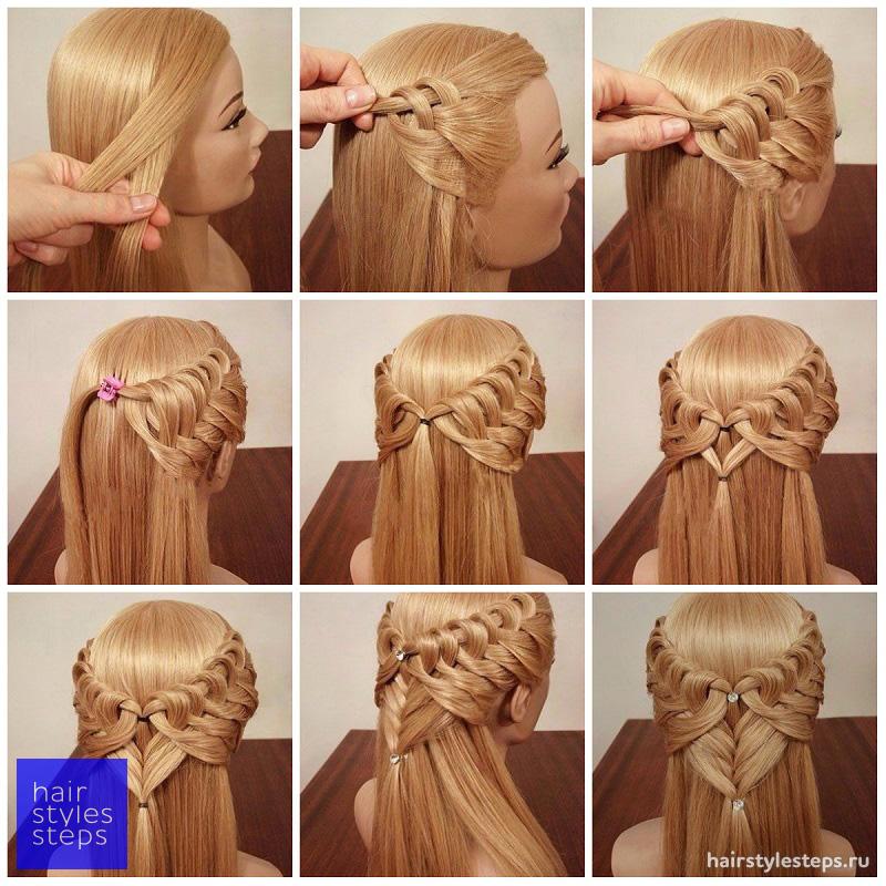 Как сделать волос косами 313