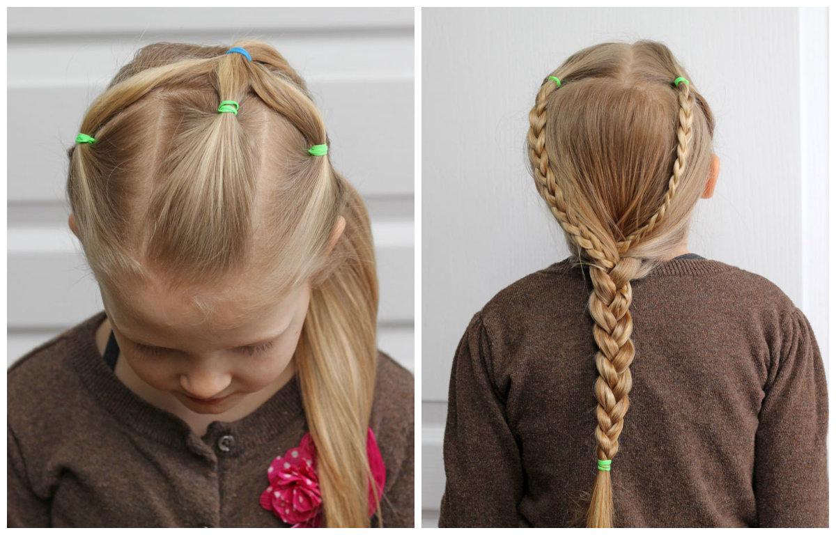 Детские прически из кос к выпускному фото