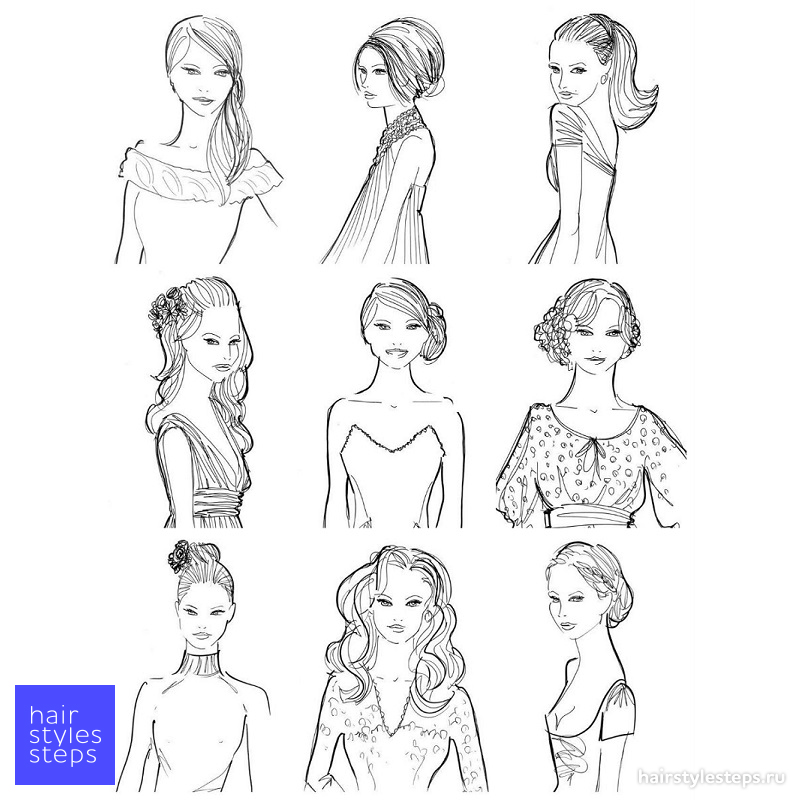 Как выбрать причёску под платье