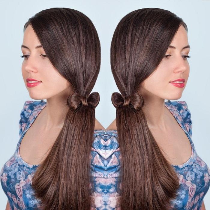 Как украсить хвост из волос