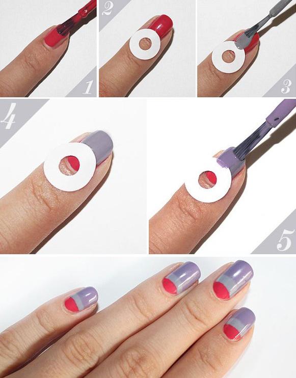 Как сделать лунки на ногтях из геля 408