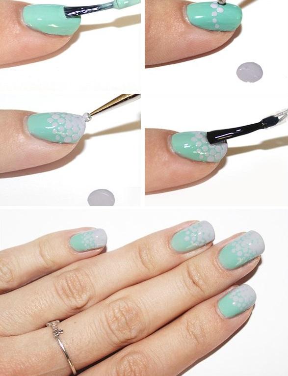 Омбре для ногтей в домашних условиях
