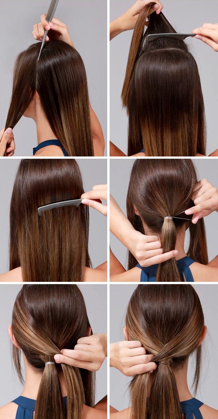 Фото инструкция как сделать красивый хвост