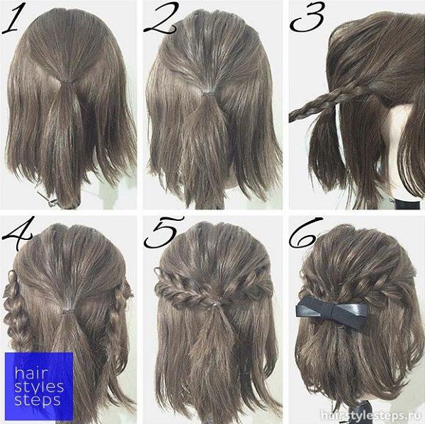 Праздничные причёски для девочек на 1 сентября