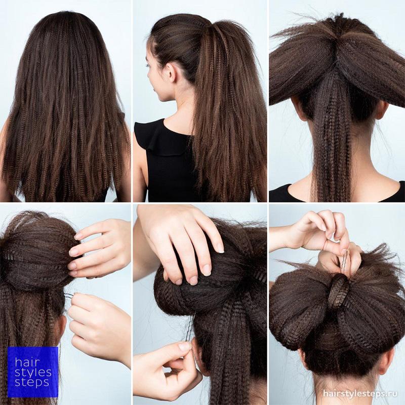 Как сделать прическу бант из волос фото поэтапно для начинающих