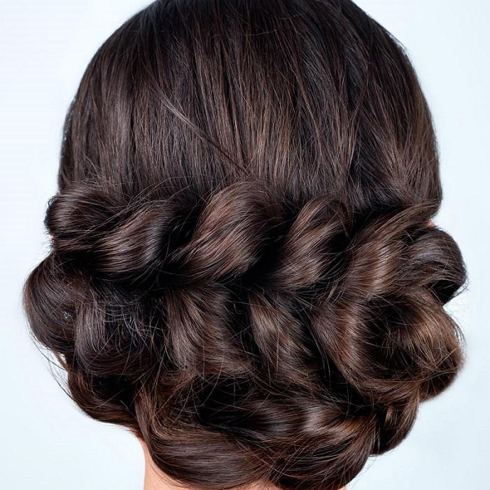 Как сделать косу с резиночками