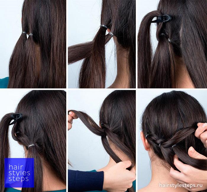Причёски с резинками своими руками в домашних условиях