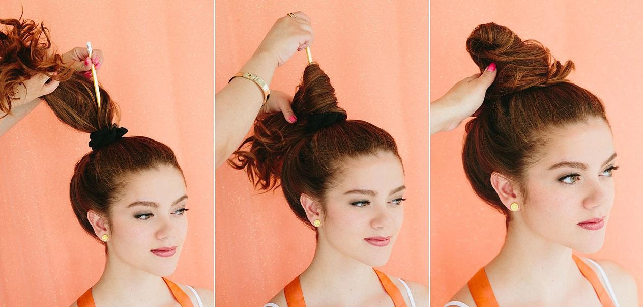 Прически на длинные волосы с резинками фото для девочек