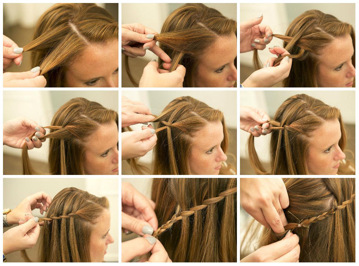 Плетение кос самой фото пошаговое фото
